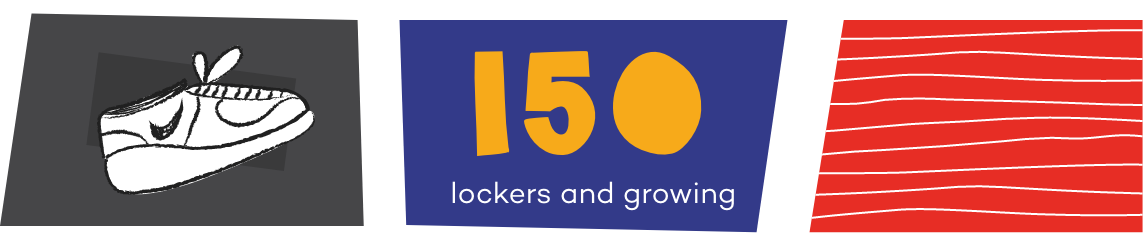 150 lockers and growing